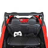 Детский электромобиль на аккумуляторе Багги M 4567 (MP4) с пультом радиоуправления для детей 3-8 лет красный, фото 7