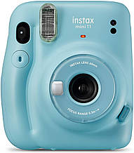 Камера моментальной печати FUJIFILM Instax Mini 11 Sky Blue + Monochrome 10 шт. + Rainbow 10 шт.