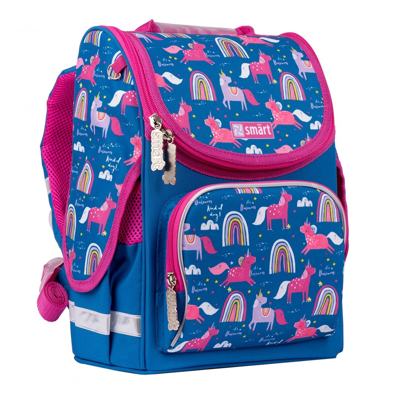 Рюкзак шкільний каркасний SMART PG-11 Unicorn Синій (556575)