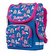 Рюкзак шкільний каркасний SMART PG-11 Unicorn Синій (556575), фото 2