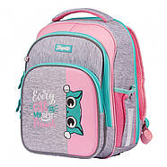 Рюкзак шкільний 1Вересня S-106 Best Friend Рожевий/сірий (551640), фото 2