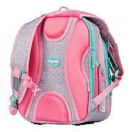 Рюкзак шкільний 1Вересня S-106 Best Friend Рожевий/сірий (551640), фото 4