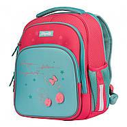 Рюкзак шкільний 1Вересня S-106 Bunny Рожевий/бірюзовий (551653), фото 2