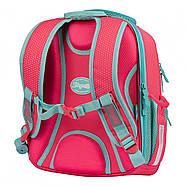 Рюкзак шкільний 1Вересня S-106 Bunny Рожевий/бірюзовий (551653), фото 3