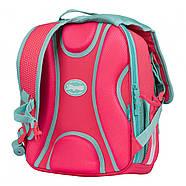 Рюкзак шкільний 1Вересня S-106 Bunny Рожевий/бірюзовий (551653), фото 4