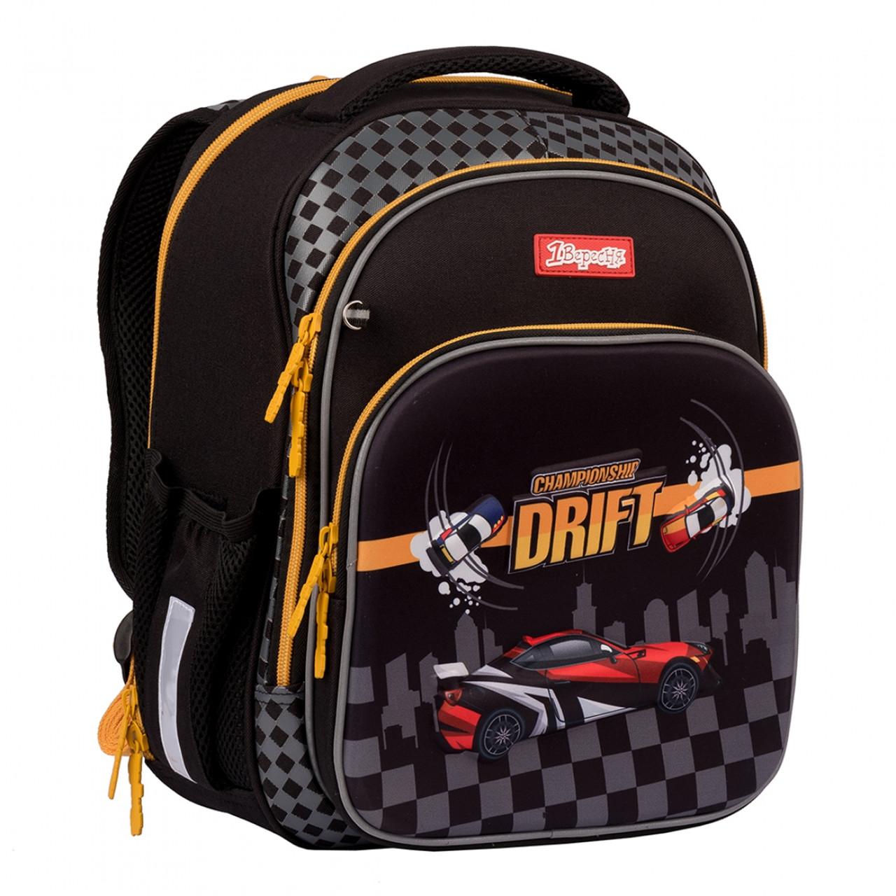 Рюкзак шкільний 1Вересня S-106 MAXDRIFT Чорний (552290)