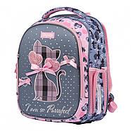 Рюкзак шкільний 1Вересня S-107 Purrrfect Рожевий/сірий (552001), фото 2