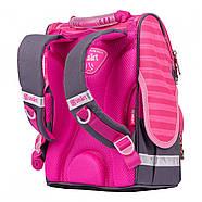 Рюкзак шкільний каркасний SMART PG-11 Cat rules Рожевий/чорний (556515), фото 3