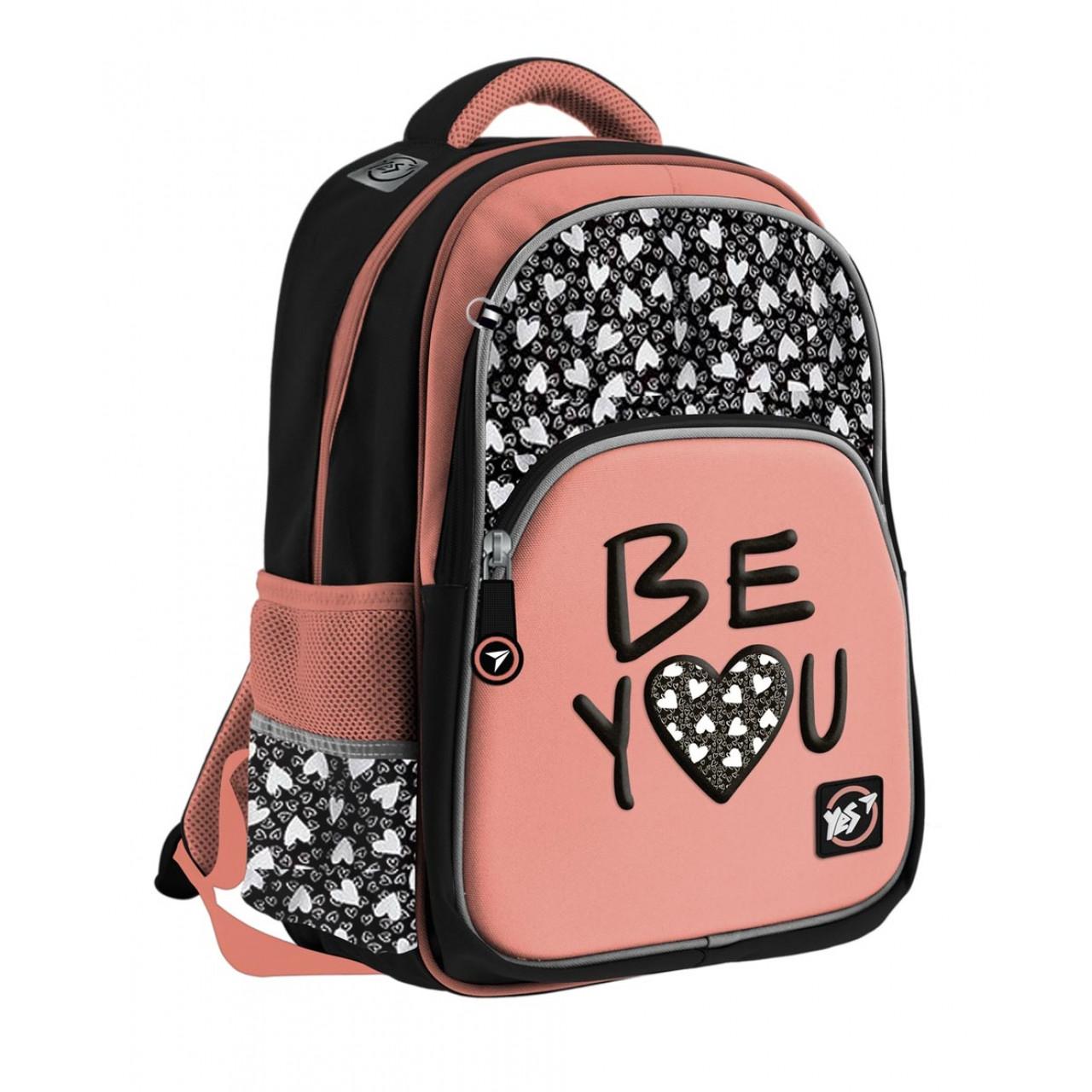 Рюкзак YES S-40h Be YOU Чорний/розовый (558553)