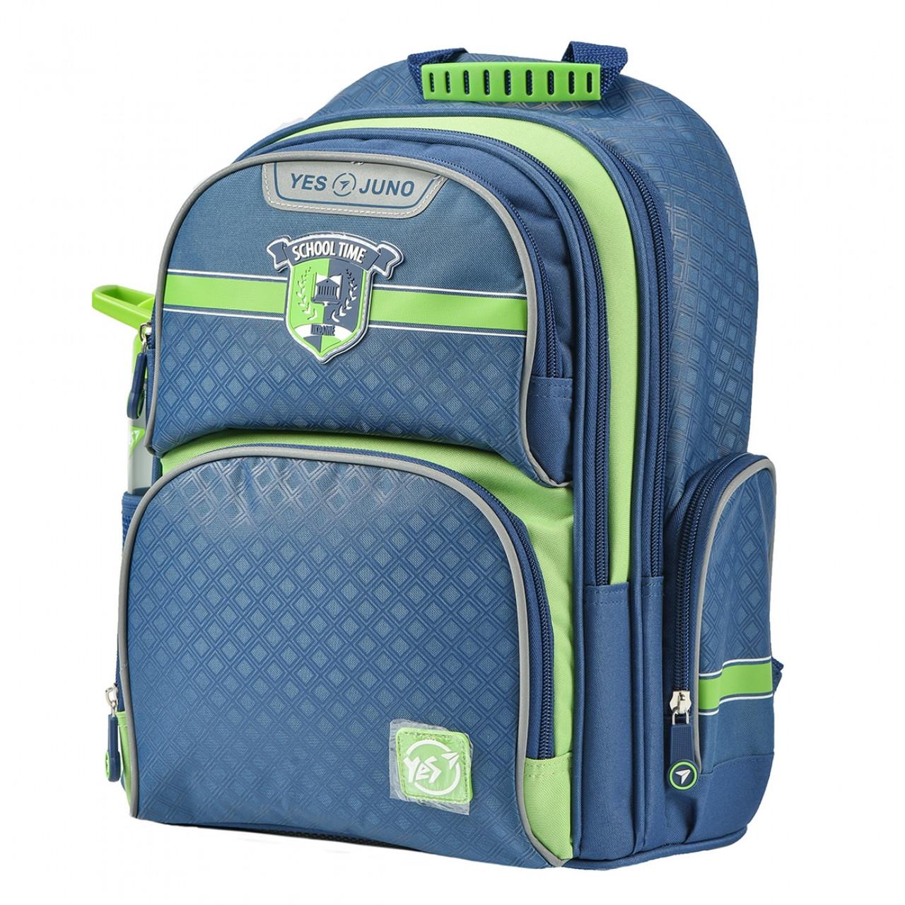 Рюкзак шкільний YES S-30 Juno School time Синій/зелений (558011)