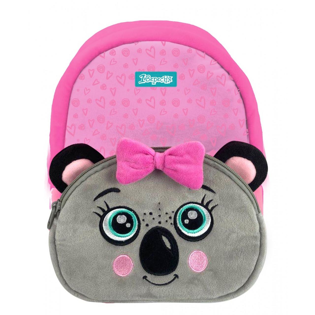 Рюкзак дошкільний 1Вересня K-42 Koala Рожевий/сірий (557878)