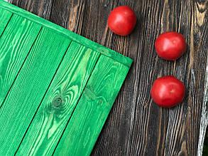 Деревянный фотофон  Зелёный прозрачный гладкий