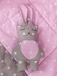 """Подушка - игрушка """" Розовый зайка"""""""