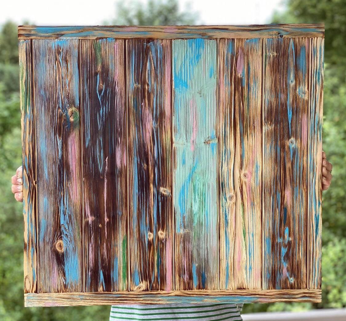 Деревянный фотофон  Заборчик