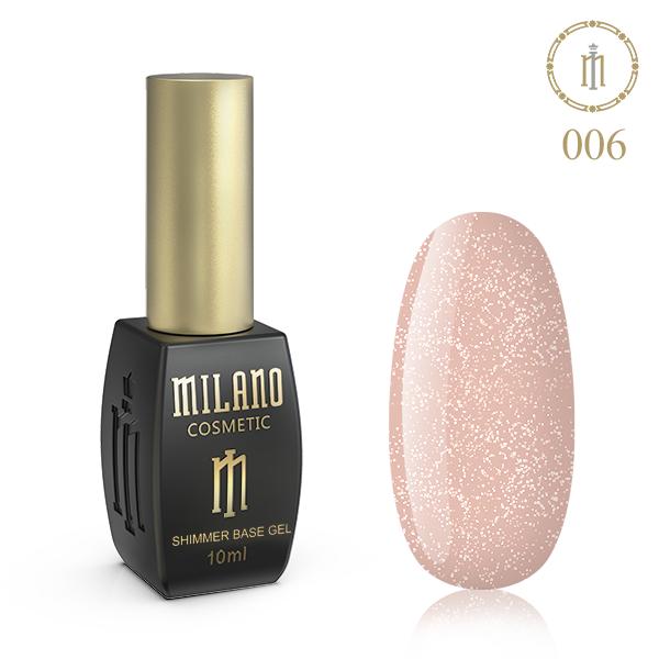 Цветная база с шиммером Milano 10 мл № 06