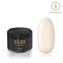 Гель для наращивания Milano Yellowish-1  20 мл