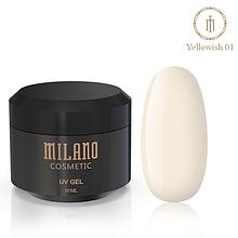 Гель для нарощування Milano Yellowish-1 50 мл