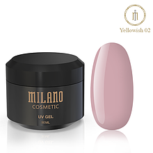 Гель для нарощування Milano Yellowish-2 50 мл