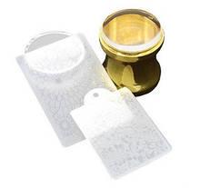 Набор для Стемпинга ногтей золото и серебро1