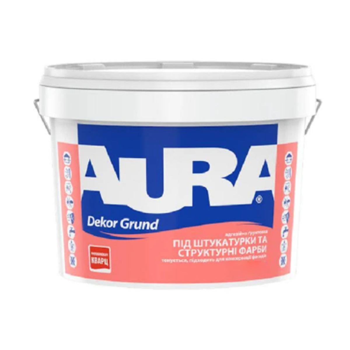 Кварцовий грунт Aura Dekor Grund для внутрішніх і зовнішніх робіт 2,5 л