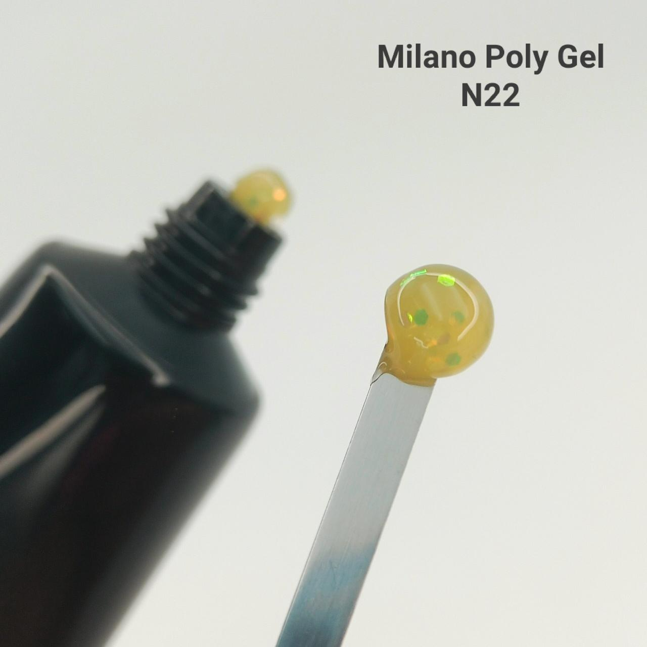 Акрил гель Milano Neon № 22