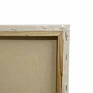 Полотно грунтоване Творець 30 х 30 см, на підрамнику, дрібне зерно, фото 3
