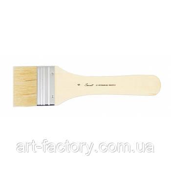 Пензель щетина плоский флейц для малювання Сонет №6