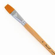 Кисть синтетика плоская для рисования Сонет №16, фото 2