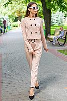 Женский брючный костюм с укороченным пиджаком Бумеранг 44-50 размер разные цвета