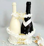 Весільний кошик для шампанського біла