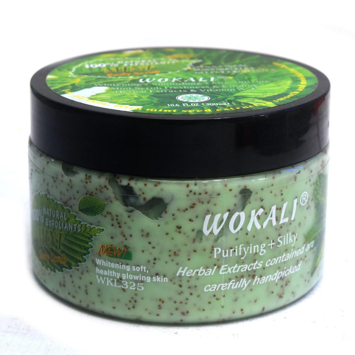 Крем-Скраб для тіла Wokali Mint Body Scrub, 300 ml