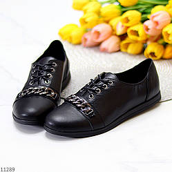 Дизайнерские черные кожаные мокасины натуральная кожа с декором