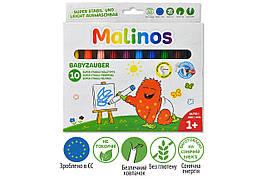 Фломастери дитячі які змиваються для малюків MALINOS Babyzauber 10 шт