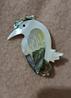 Брошь брошка дятел птица ракушка офигенная, фото 2