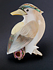 Брошь брошка дятел птица ракушка офигенная, фото 6
