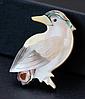 Брошь брошка дятел птица ракушка офигенная, фото 7