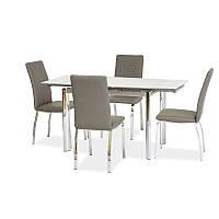 Стеклянный стол Signal GD-019 белый