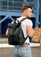 Чоловічий рюкзак рол Sambag RollTop LZT чорний, фото 1