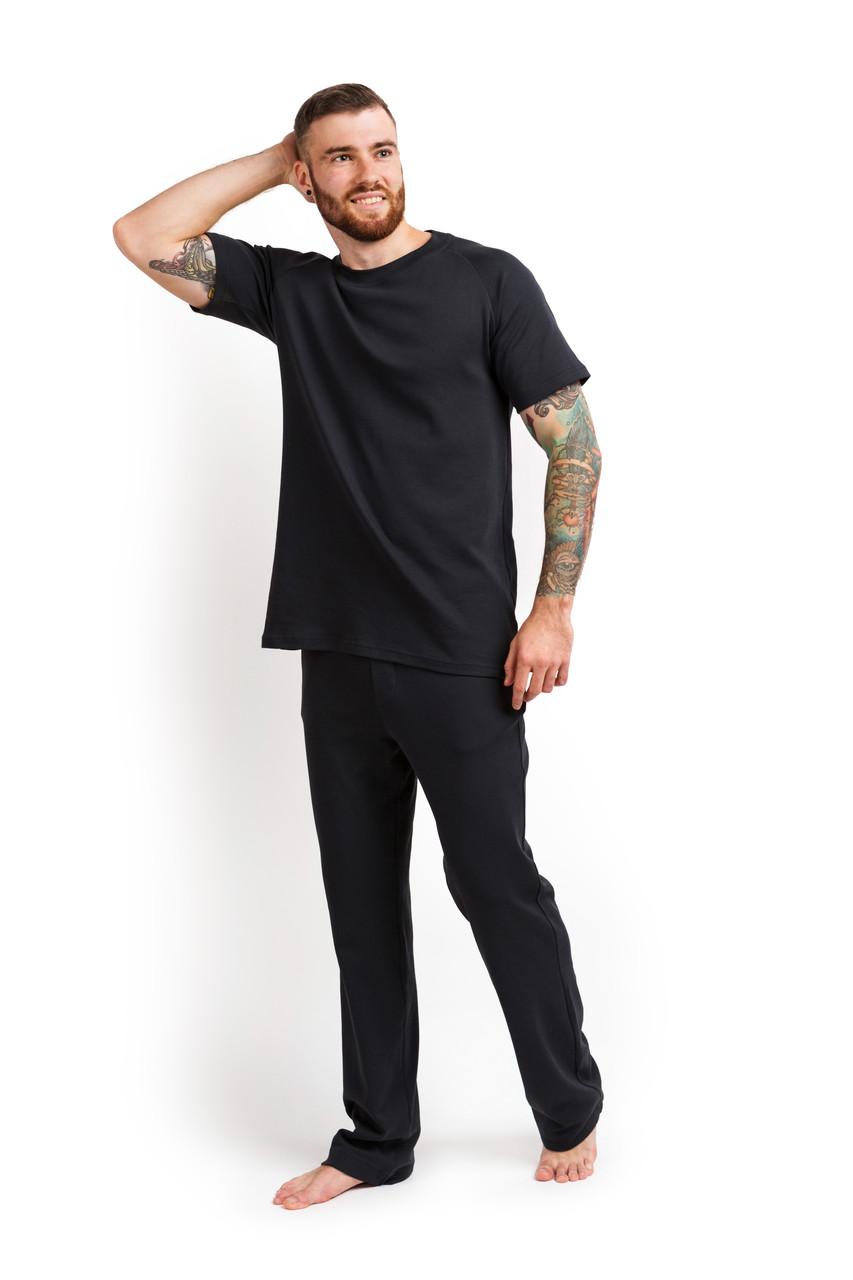 Піжама чоловіча футболка і штани) графітовий