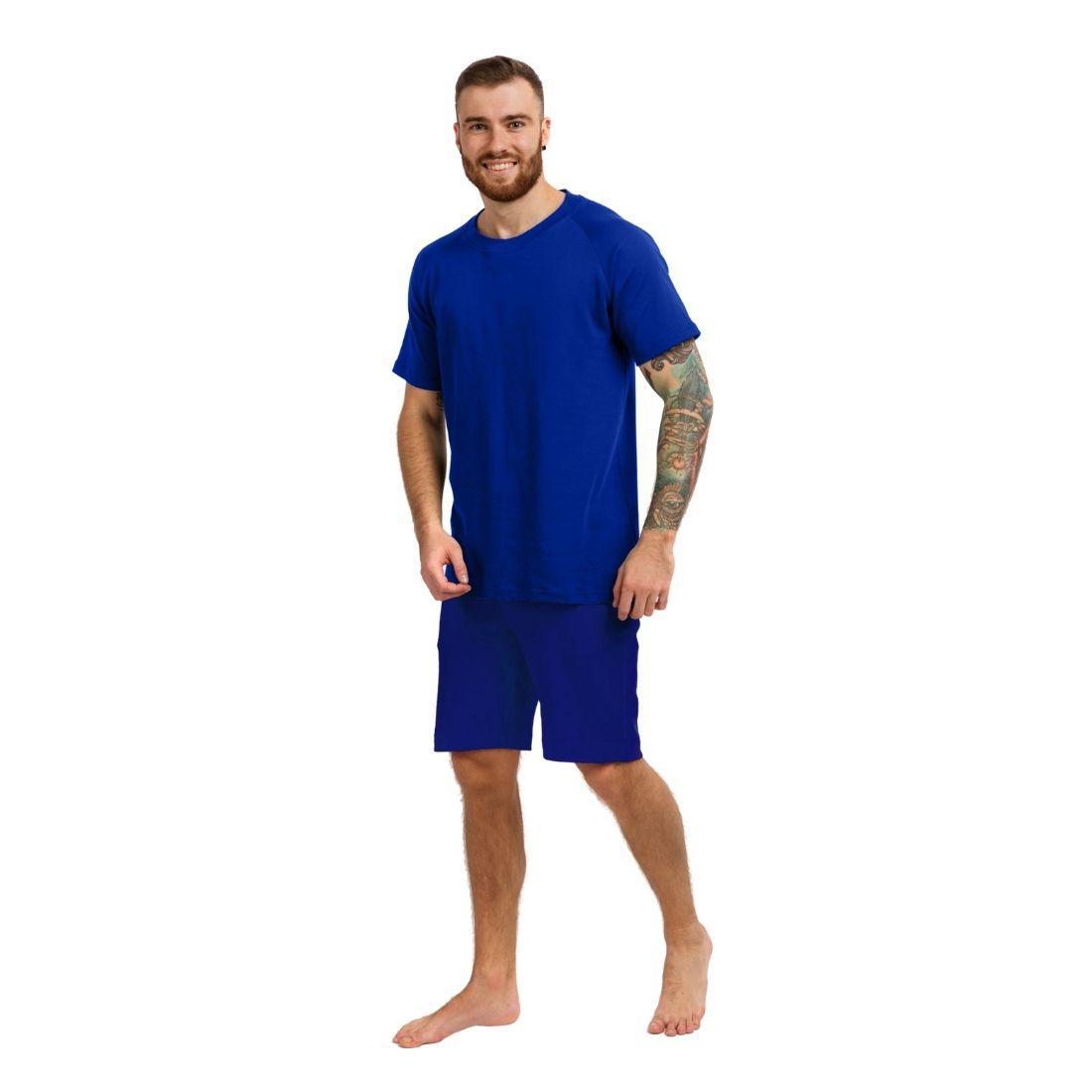 Пижама мужская (футболка и шорты) синий