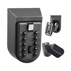 Міні сейф для ключів настінний Badoo Security T8, з кодовим замком і антивандальним металевим корпусом