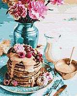 Картина за номерами малювання BS34848 Панкейкі на сніданок