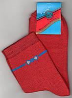 Носки женские махровые х/б Классик, 23-25 размер, бантик