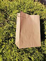Пакет бумажный подарочный крафт эко 50гр./м2, 210х115х290 (200шт./уп.) средний.