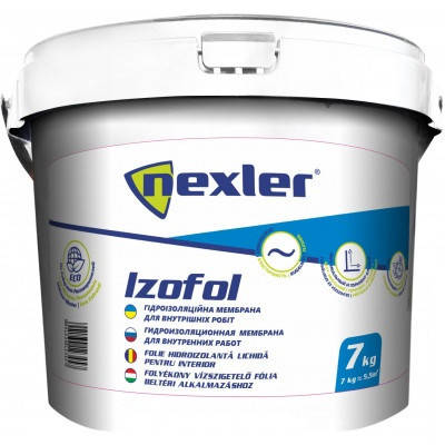 Мастика гідроізоляційна Izolex IZOFOL 7 кг, фото 2