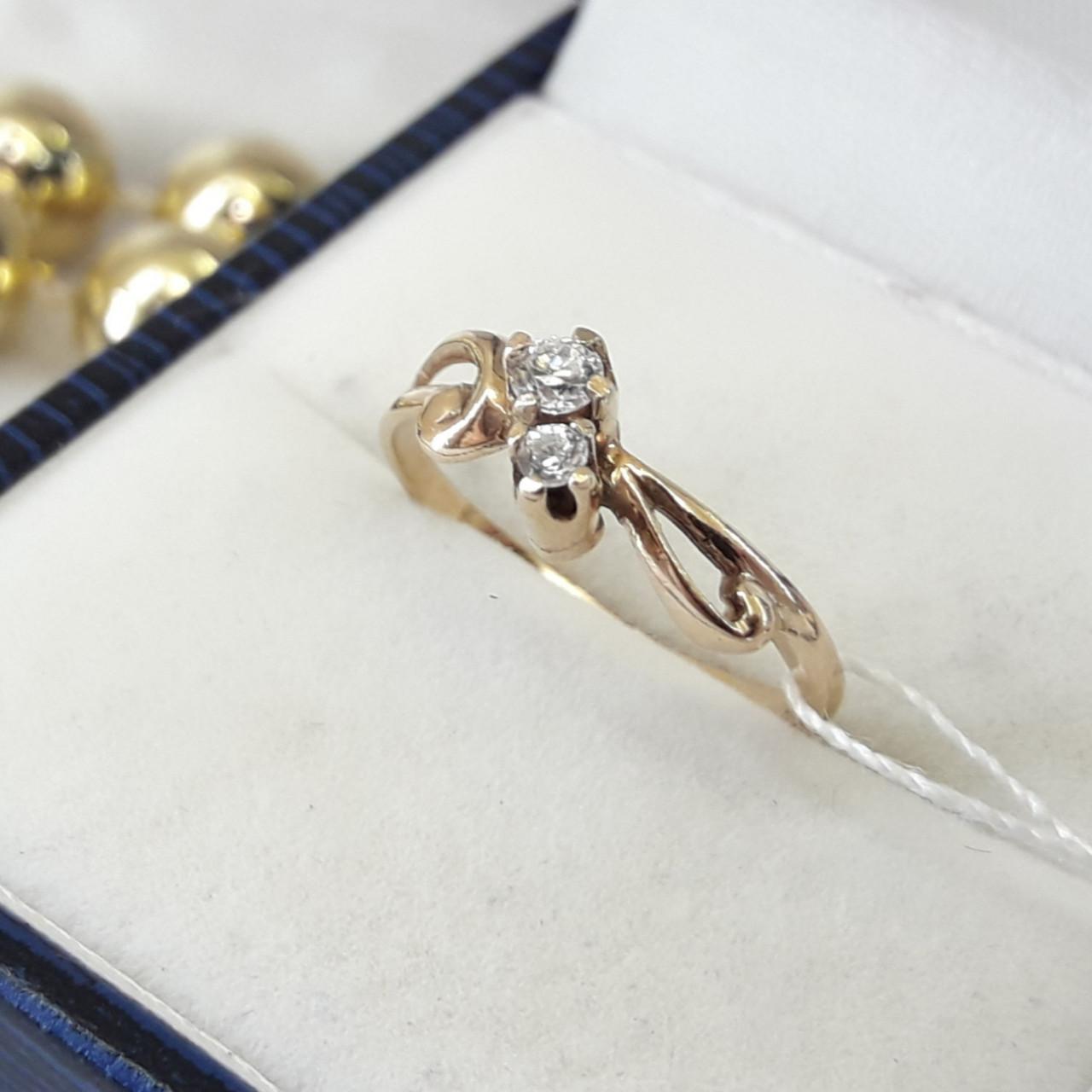 Серебряное классическое кольцо в позолоте