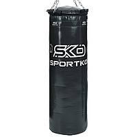 Мішок боксерський Циліндр з кільцем і ланцюгом ЕЛІТ SPORTKO MP-22 висота 110см чорний