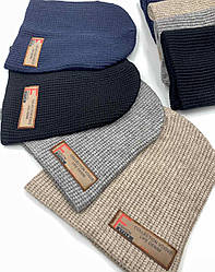 Трикотажная шапка и хомут, подкладка х/б р52-54