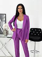Стильний жіночий костюм трійка з костюмної тканини, фото 4