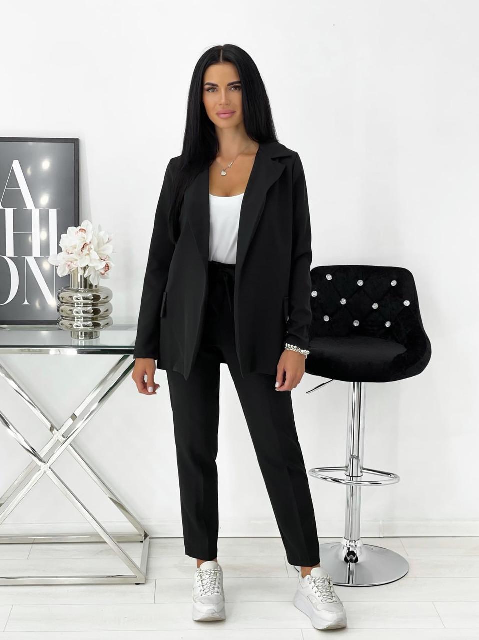 Практичный женский костюм тройка (майка, брюки, пиджак)
